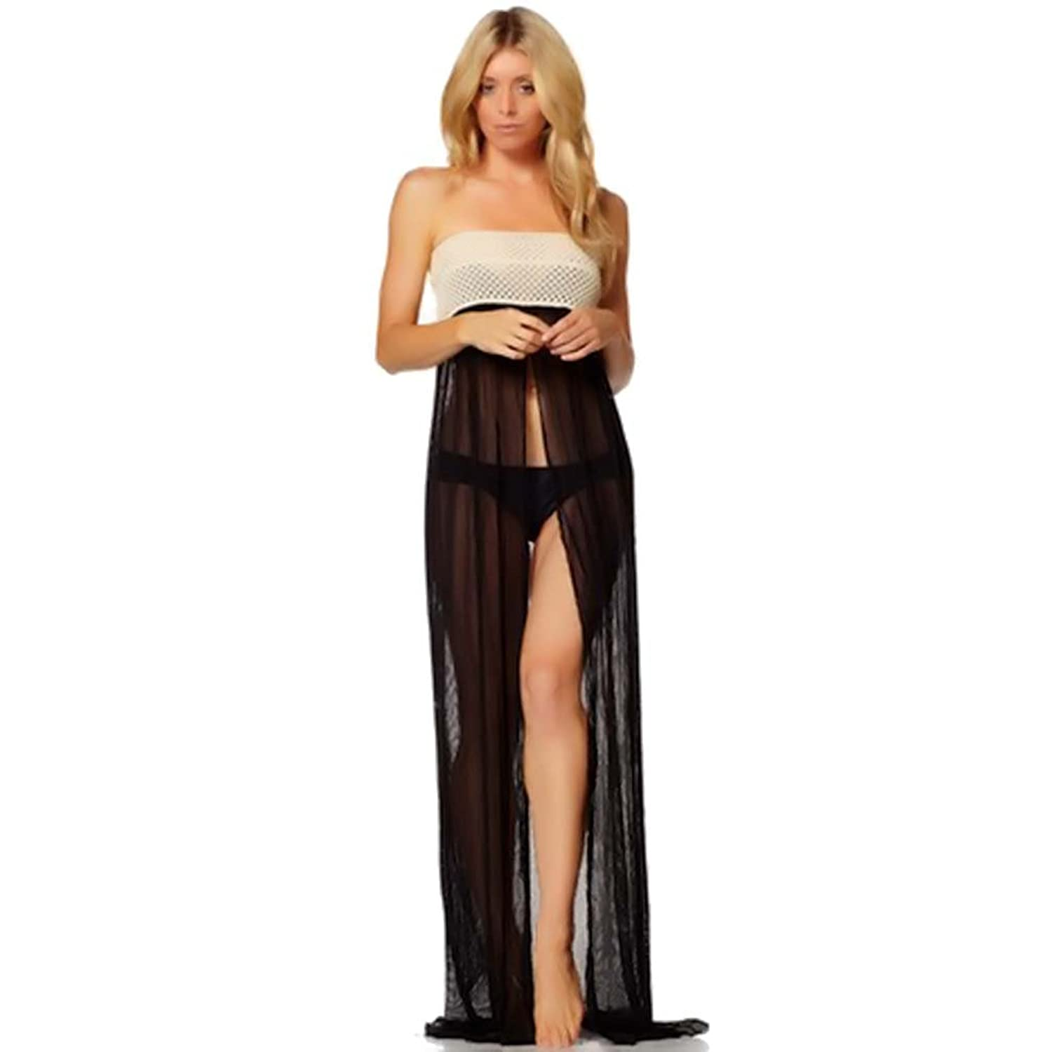 Strapless Beach Cover up Maxi Beach Cover-up Dress