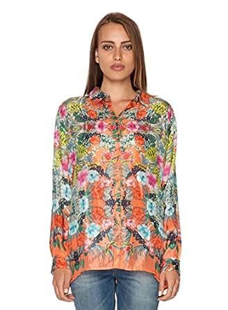 Johnny Was Collection Pratesi Button Down Silk Shirt Xx