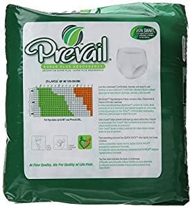 Prevail Super Absorbency Underwear, 2XL, 12 Count (Pack of 12 (12 ct each)) from Prevail