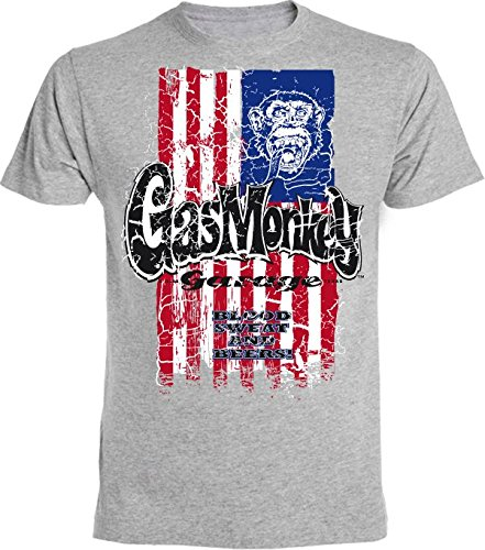 Gas Monkey Garage -  T-shirt - Uomo grigio Small