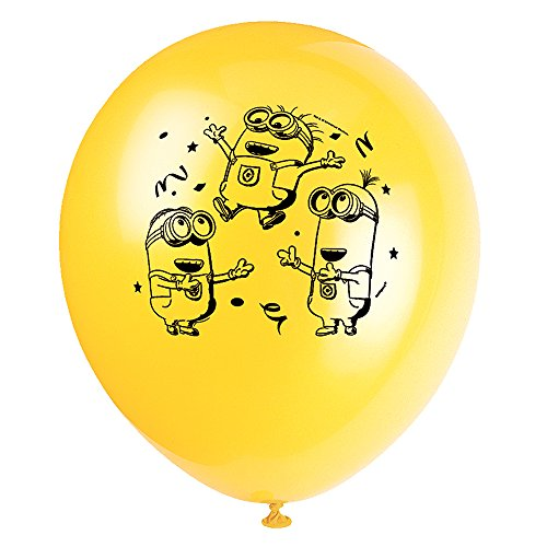 "12"" Latex Despicable Me Balloons, 8ct - 1"