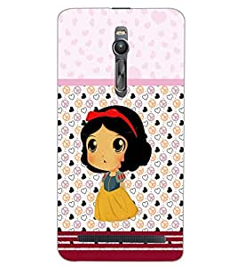 PrintDhaba CUTE GIRL D-7069 Back Case Cover for ASUS ZENFONE 2 (Multi-Coloured)