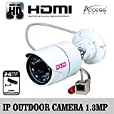 D3D IP Camera Outdoor Water proof FULL HD (1.3 MP), Night Vision,Onvif 2.0,LENS 3.6 MM,P2P, Motion Detection,Smart phone iOS/ Android Mobile App ,1 Year Warranty with Unlimited Support