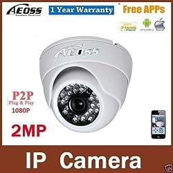 Aeoss IP Camera full HD 1080P 2MP IR Night Vision Dome Sony Lens P2P Fish Eye Cloud Phone Mobile