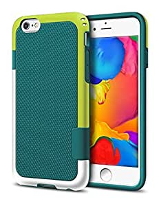 iPhone 6 Plus Case, ELOVEN Slim 3 Color Hybrid Cover Apple iPhone 6s Plus Case Shockproof Shell [Extra Front Raised Lip] Ultra Slim Fit Bumper Protective Case for iPhone 6s Plus 5.5 inch - Teal