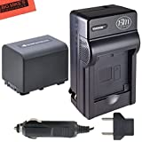 NP-FV70 Battery & Charger Kit for Sony HDR-PJ200 HDR-PJ230 HDR-PJ260V HDR-PJ380 HDR-PJ430V HDR-PJ580V HDR-PJ650V HDR-PV760V HDR-PV790V HDR-TD30V Handycam Camcorder + More!!