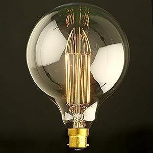 globe 80/95/125 vintage light bulb filament edison style - bayonet b22 Globe 80/95/125 Vintage Light Bulb Filament Edison Style – Bayonet B22 51OsTfY8VCL