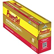PowerBar Power Gel with C2 MAX - Box of 24 - Strawberry Banana - With Caffeine
