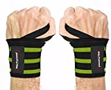 """Wrist Wraps by Rip Toned - 18"""" Professional Grade With Thumb Loops - Wrist Support Braces for Men & Women - Weight Lifting, Crossfit, Powerlifting, Strength Training - Bonus Ebook"""