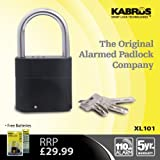 Kabrus Small Alarmed Padlock for Garden Shed / Storage Sheds / Door Locks / Home Security Gate Alarmed Padlock / Alarm Lock for All types of Garden Sheds / Small Garden Alarm Lock / Can be Used Armed and Unarmed
