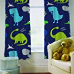 "Curtains 66"" x 72"" Dinosaurs In the D..."