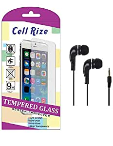 CellRize Tempered Glass For LG Bello 2 With Black Headphone