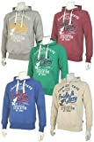 Mens Pride & Glory College Style Over Head Hoodie With Print. Style Name - Erath.
