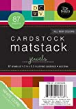 DCWV Cardstock Matstack, Jewels, 87 Sheets, 4-1/2 x 6-1/2 inches