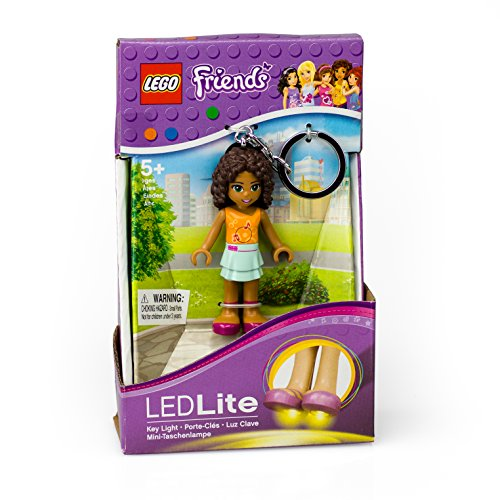 LEGO Friends Andrea Keychain Light - 2.75 Inch Perfect for Backpacks, Keychains - Moving Parts, Long Lasting LED's - 1