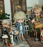 (ドーリア)Dollia ブライス 1/6ドール用 アウトフィット フード付き ダッフルコート ネオブライス ドール 人形 (ライトブルー)