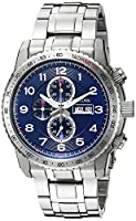 Bulova Men's 96C121 Marine Star Analog Display Quartz Silver Watch