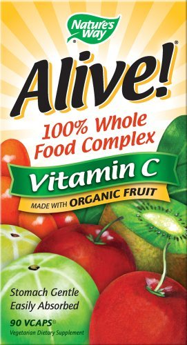 Natures Way Alive Whole Food Complex With Vitamin C 120 Vegetarian Capsules