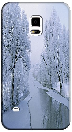 Phones Accessories Beautiful White Snow Tree Vellege Design Cases For Samsung Galaxy S5 I9600 # 17