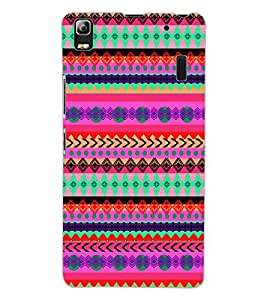 ColourCraft Tribal Pattern Design Back Case Cover for LENOVO A7000