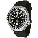 Tauchmeister T0268 - Orologio subacqueo con movimento automatico e funzione 24h, vetro in zaffiro, valvola dell'elio...