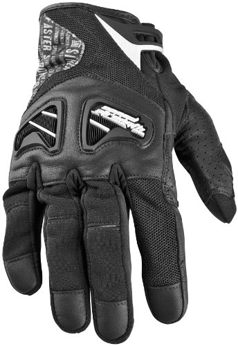 2014 Speed And Strength Run With The Bulls Leather-Mesh Motorcycle Gloves - Black - Medium