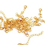 20 Gold Tone Necklace Chain Extenders...