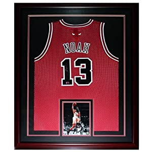 Joakim Noah Autographed Chicago Bulls (Red #13) Deluxe Framed Jersey by PalmBeachAutographs.com