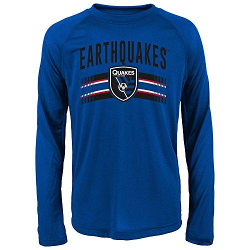 MLS San Jose Earthquakes Boys Performance Long Sleeve Tee, X-Large/Size 18, Master Blue