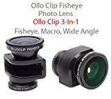 Olloclip 3-in-1 Fisheye and Macro Clip-On Lens System for iPhone 5/5S (Black)