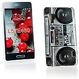 Kit Me Out DE TPU-Gel-H�lle f�r LG Optimus L5 2 E460 - Mehrfarbig Ghettoblaster
