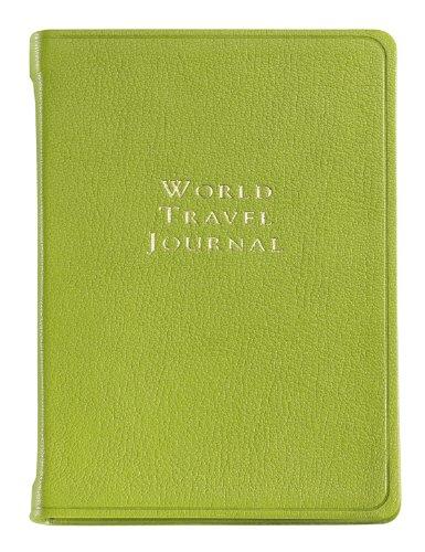 Graphic Image World Travel Journal, Goatskin Leather, Lime (TJIMRBLGTILIM)