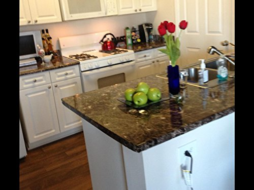 Contact Paper? NO! Dark Faux Granite Counter Top Film Peel and Stick 36