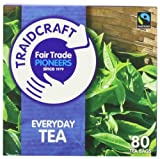 Traidcraft Everyday Fairtrade 80 Teabags (Pack of 6, Total 480 Teabags)