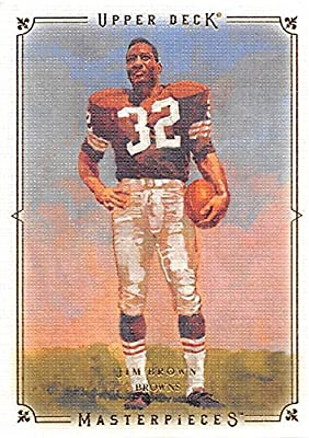 Jim Brown football card (Cleveland Browns) 2008 Upper Deck Masterpieces #43