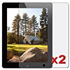 eForCity 2 Pack Anti-Glare LCD Screen Protector Film Compatible With Apple® iPad® 2 16GB / 32GB / 64GB / iPad® with Retina display / iPad® 4