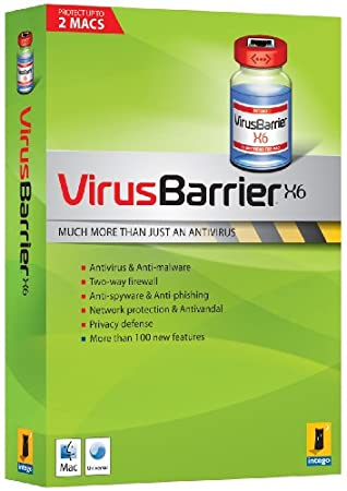 Intego Virus Barrier X6 2 User 1 Year