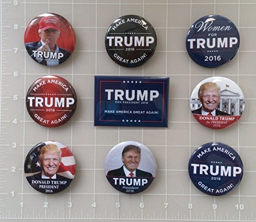 Buy Cheap Donald Trump Set of 9 Best Seller Campaign Buttons - Buttons measure 2.25""