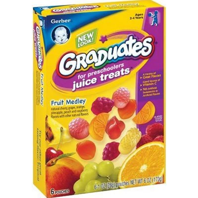 Gerber Graduates Juice Treats Fruit Jelly,6 Oz (170G) In One Box. front-508277