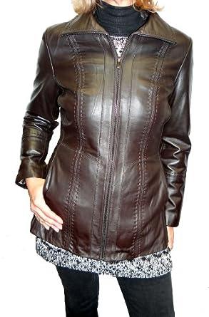Jones New York Scuba Stitched Design Leather Jacket at