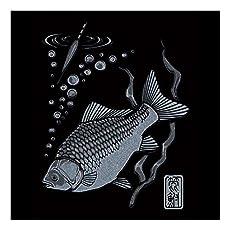 彩蒔絵(いろまきえ) ステッカー 釣道八景シリーズ ヘラブナ/SV [正規代理店品]
