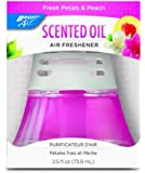 BRIGHT Air Scented Oil Diffuser - Fresh Petals and Peach , 2.5 Ounce Bottle