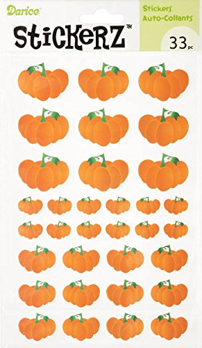 Darice 33 Piece Pumpkin Sticker