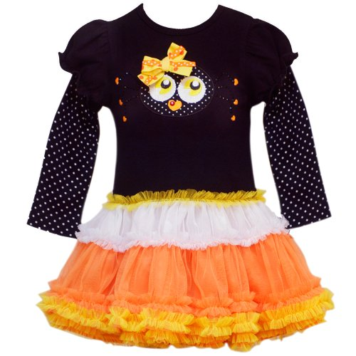Rare Editions Baby 3M-9M Spooky Spider Tier Mesh Tutu Halloween Party Dress