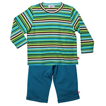 Zutano Little Boys' Multistripe Long Sleeve Tee And Terry Pant Set, Multi, 2T