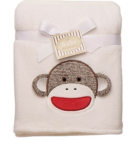 Baby Starters Boy Girl Sock Monkey Security Blanket Shower Gift 30x40 Lovey (Baby Starters Lovey compare prices)