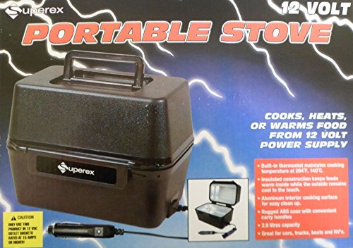 12 Volt Cooking Appliances ~ Superex volt portable stove box cooks heats or