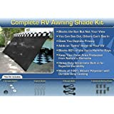 Black RV Awning Shade Net Complete Kit 8 x 10 RV Awning Shade Kit