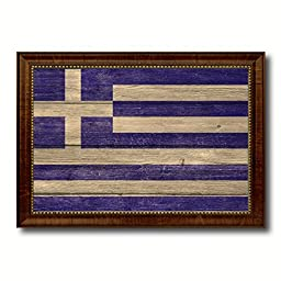 Greece National Textured Flag Art Country Custom Picture Frame office Wall Home Decor Gift Ideas, 15\
