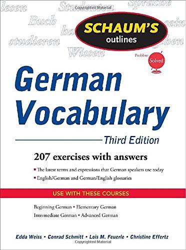Schaum's Outline of German Vocabulary, 3ed (Schaum's...